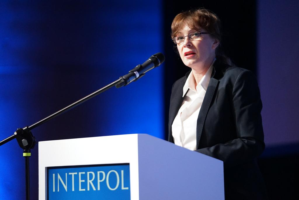 Poland's Under Secretary of State Renata Szczęch officially opened the 47th INTERPOL European Regional Conference.