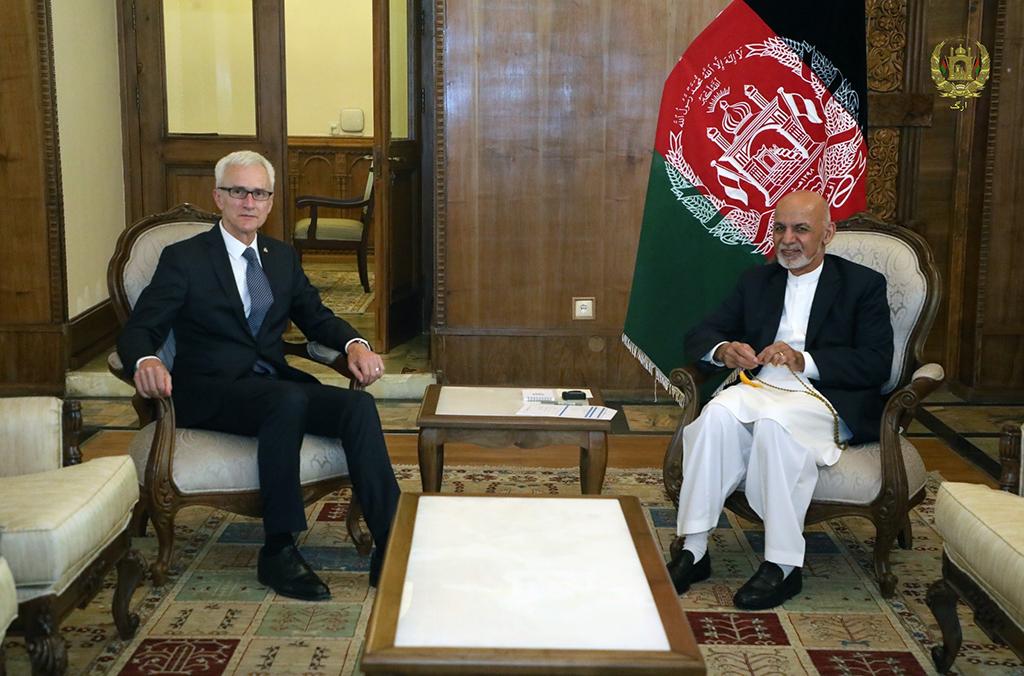 Las conversaciones entre el presidente afgano Ashraf Ghani y el Secretario General de INTERPOL Jürgen Stock se centraron en la identificación de las áreas que más pueden necesitar el acceso a la red mundial y a la experiencia de INTERPOL.