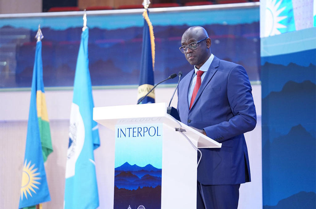 Johnston Busingye, Rwanda's Minister of Justice and Attorney General officially closed the INTERPOL African Regional Conference.