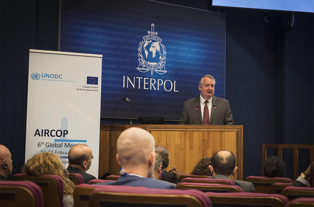 Tim Morris, INTERPOL's Executive Director of Police Services encouraged participants to work together and capitalize on seizures to strike at the heart of criminal groups.