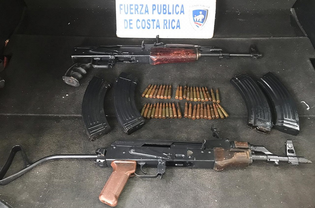 A vehicle check in Costa Rica uncovered two AK47 assault rifles, one of which had been recorded in INTERPOL's iARMS database by a country in the Middle East.