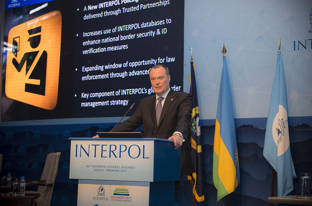 Michael O'Connell, Director of Operational Support and Analysis, addressing the 84th INTERPOL General Assembly, said that I-Checkit could become an invaluable investigative and preventative policing component so as to help deliver safer communities.