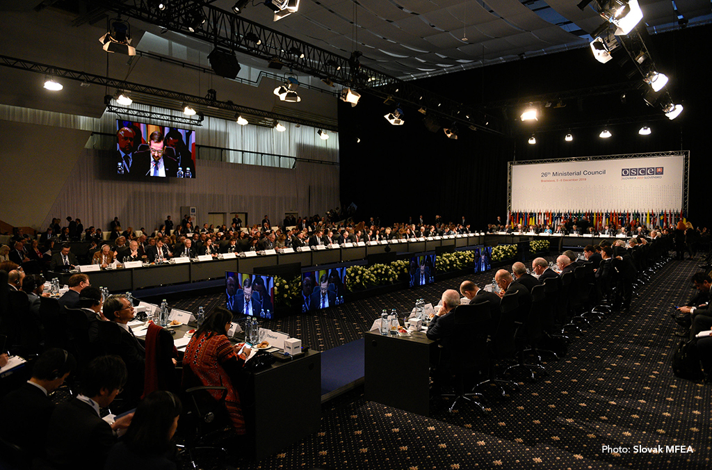 The event was held on the margins of the 26th OSCE Ministerial Council