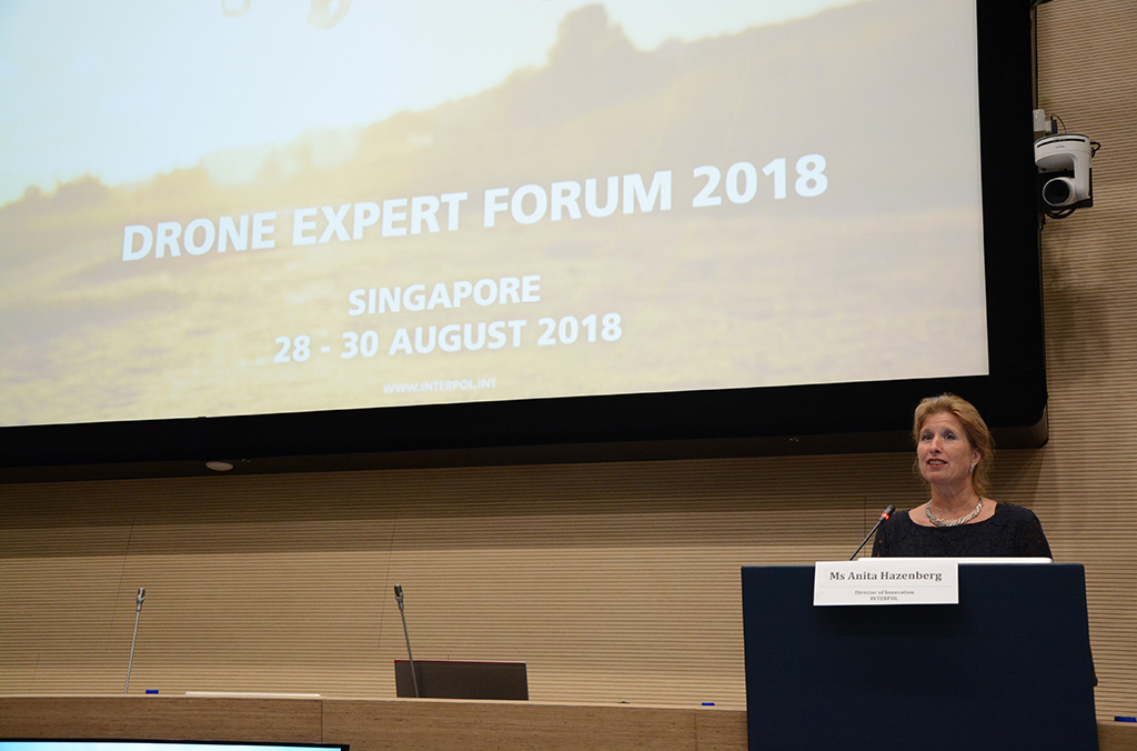 Anita Hazenberg, Director of the INTERPOL Innovation Centre, addressed the conference.