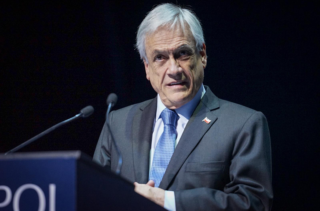 """Officially opening the INTERPOL General Assembly, Chilean President Sebastián Piñera said, """"Crime is changing and constantly evolving. We must step up our fight against crime, a fight which can never be abandoned."""""""