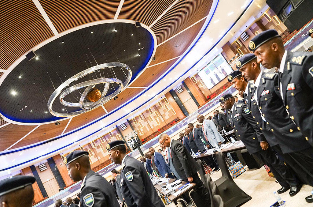 The African Regional Conference is addressing terrorism and organized crime threats.