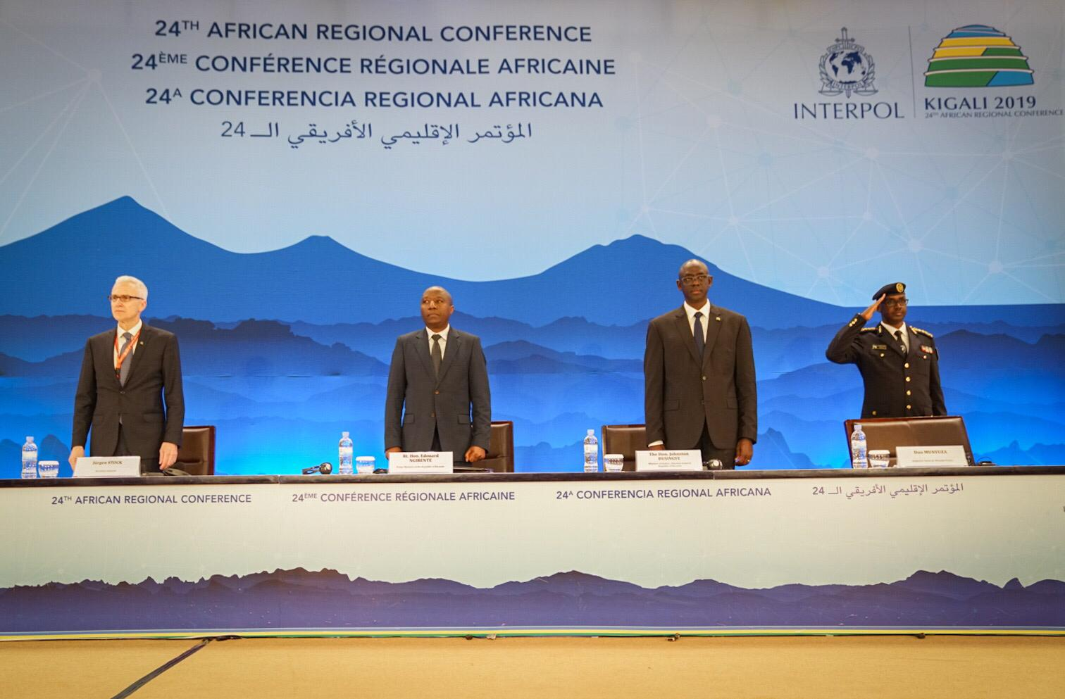 Rwandan Prime Minister Edouard Ngirente officially opened the INTERPOL African Regional Conference.
