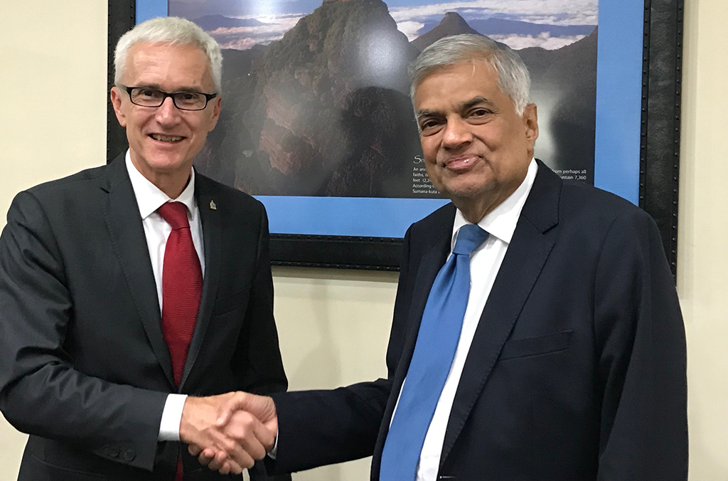 Secretary General Jürgen Stock's meeting with Sri Lankan Prime Minister Ranil Wickremesinghe highlighted the strong cooperation between INTERPOL and Sri Lanka following the 21 April bomb attacks.
