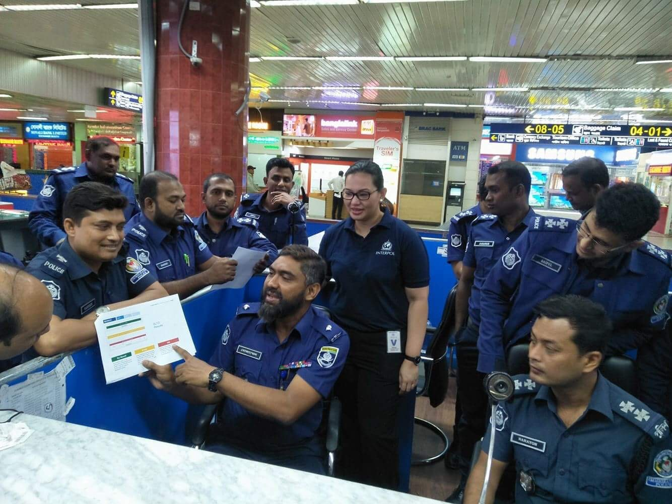 Trainer Mozammel Hussein giving a briefing on Operation Mandala at the counters in Dhaka, Bangladesh