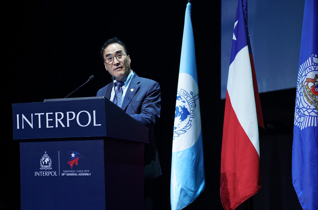 INTERPOL President Kim Jong Yang chaired the General Assembly
