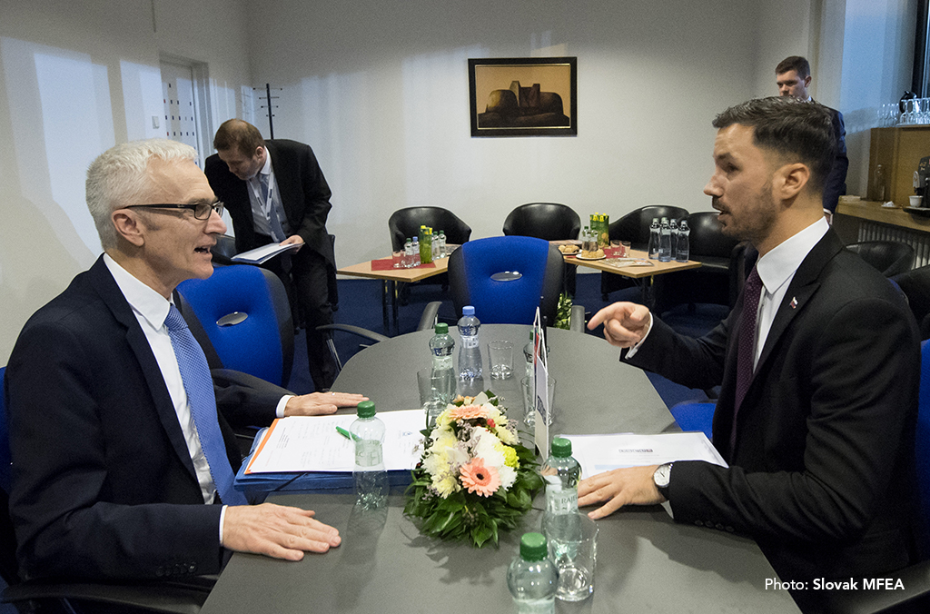 Secretary General Jürgen Stock meets with Lukáš Parízek, State Secretary of the Ministry of Foreign and European Affairs of the Slovak Republic
