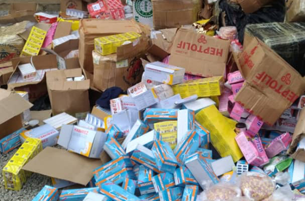 In Côte d'Ivoire, smugglers attempted to smuggle 12,000 kg of counterfeit pharmaceutical products from Ghana.