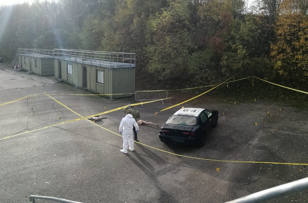 Participants learned how to secure a crime scene for forensic investigation.