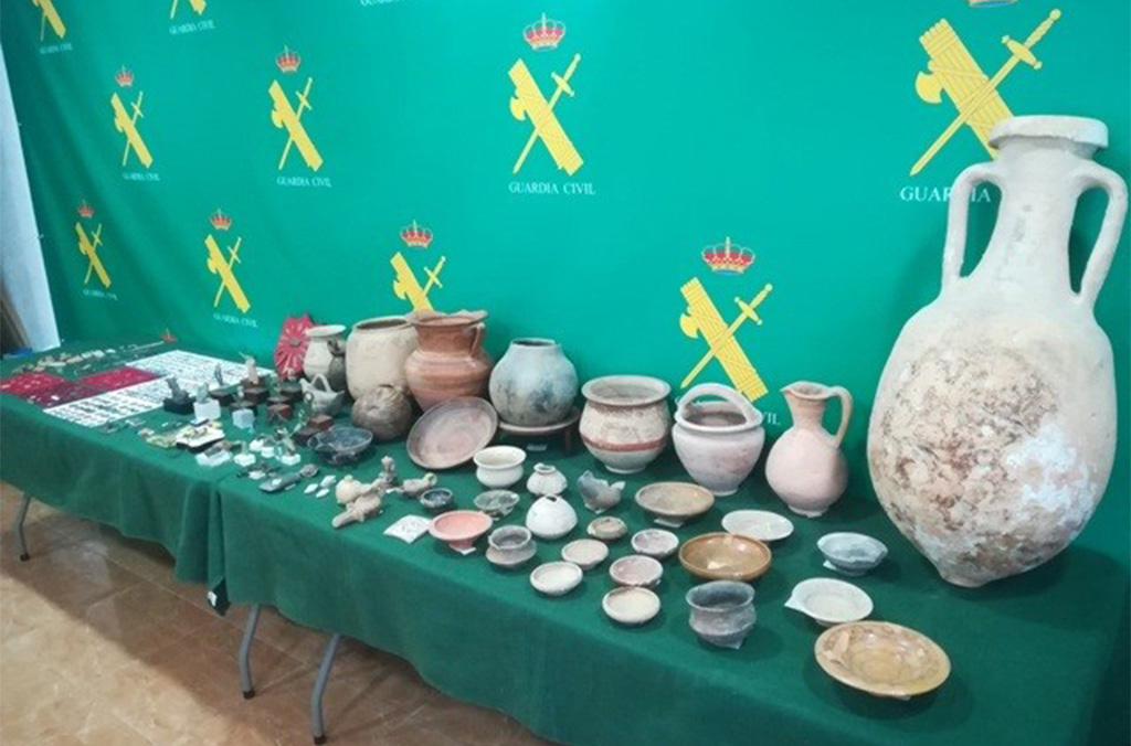 Objects seized by Spain's Guardia Civil.