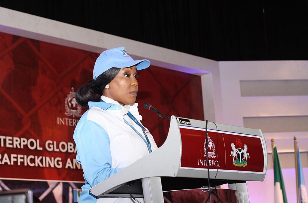 Julie Okah-Donli, Director General of NAPTIP gave an overview of Nigeria's fight against human trafficking, and called for all actors to do more.