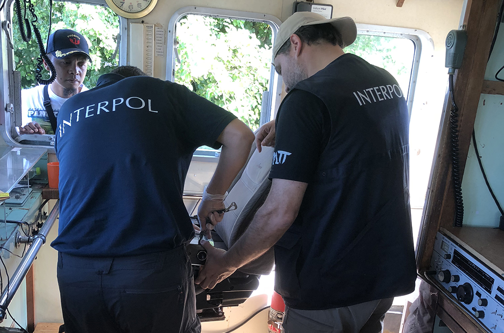 INTERPOL examined the evidence and intelligence collected on board - computer systems, navigational instruments, and the captain's mobile phone – which would later enable the global law enforcement community to piece together the wider criminal web that the vessel operated in.