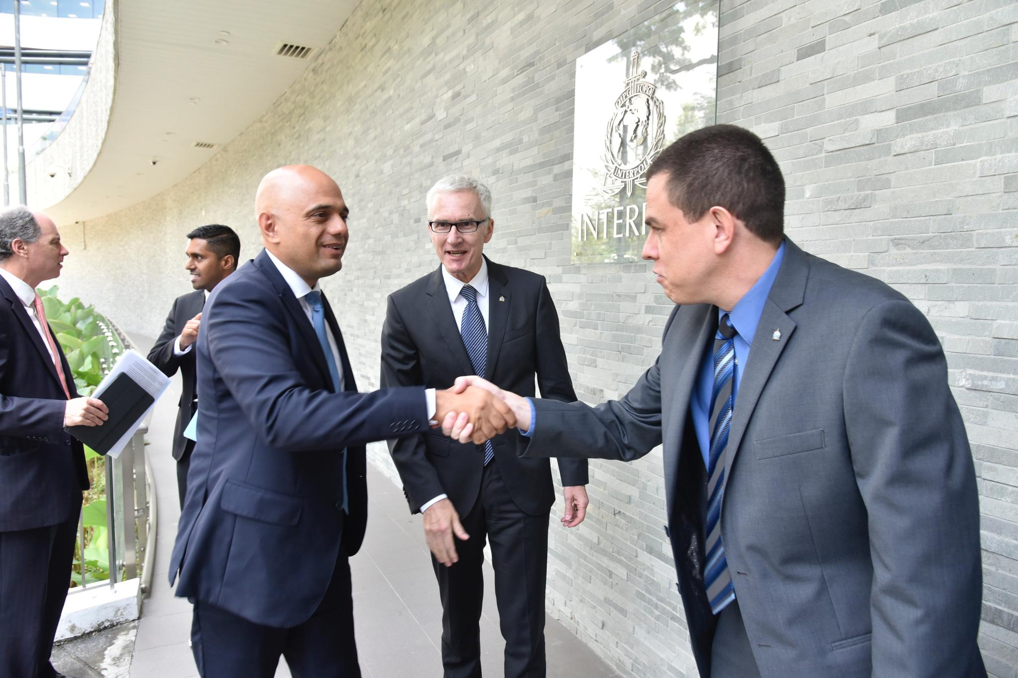 Home Secretary Javid also met with Silvino Schlickmann Jr., INTERPOL Executive Director of Technology and Innovation.