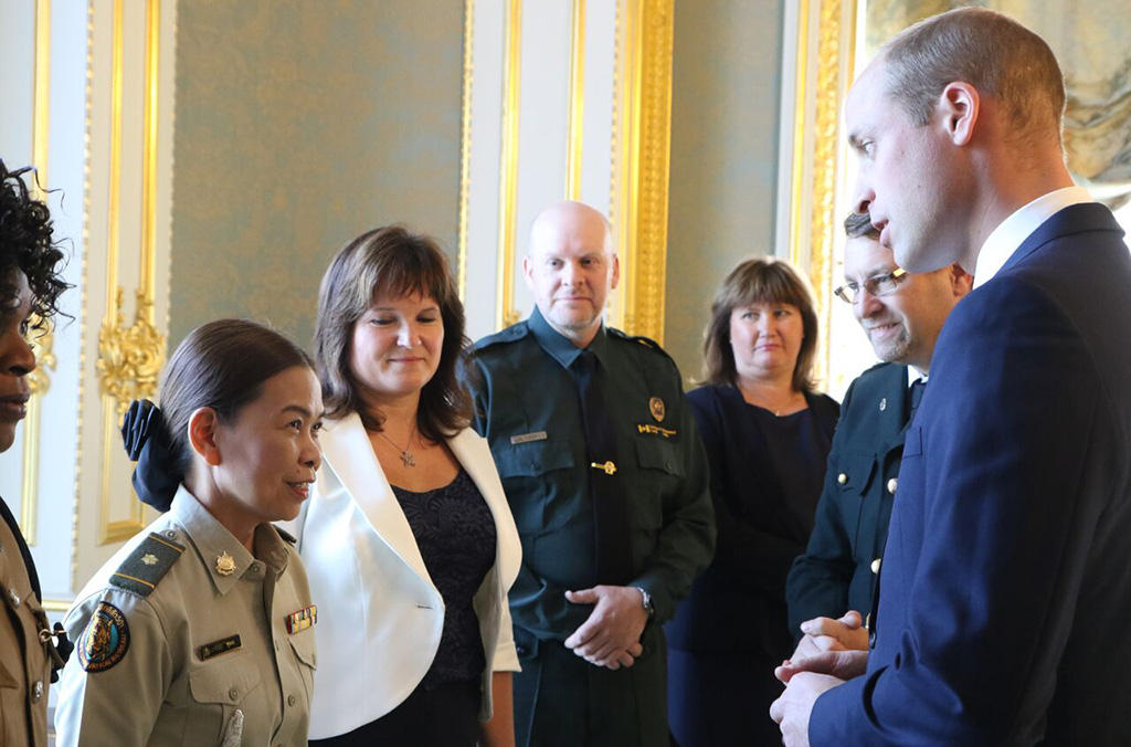 The Duke of Cambridge meets with frontline wildlife enforcement officers.