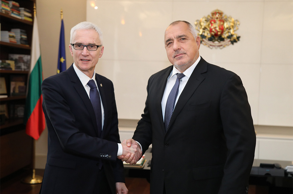Secretary General Jürgen Stock met with Bulgaria's Prime Minister Boyko Borissov as the country celebrates its 30th anniversary of INTERPOL membership.