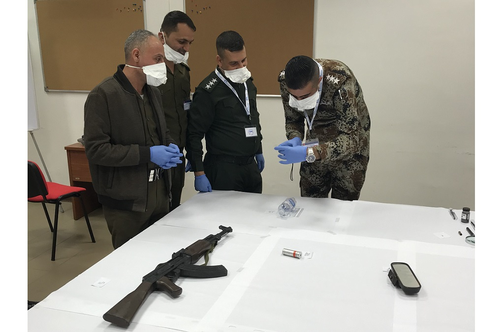 Military first responders from Iraq were trained on collecting and preserving battlefield evidence.
