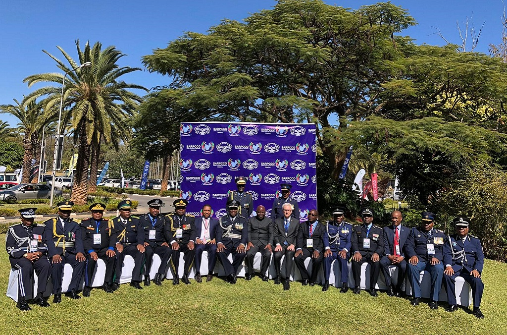 Delegates at the SADC/SARPCCO Chiefs of Police meeting being held in Zambia.