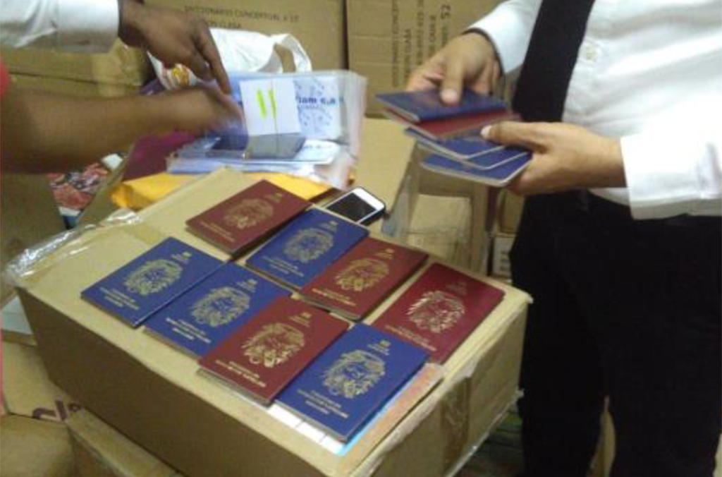 Seized passports in the Dominican Republic.