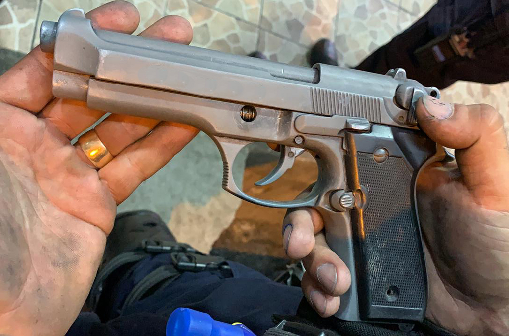 A pistol seized by Costa Rican authorities during Operation Trigger V.
