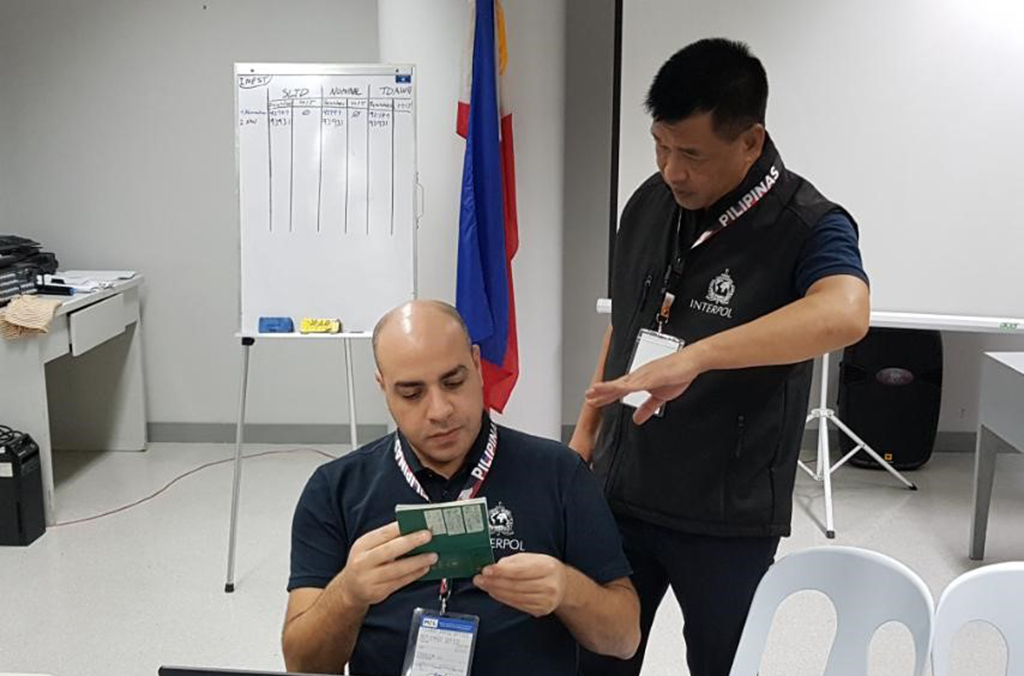 One individual was caught attempting to leave Manila on a passport reported stolen