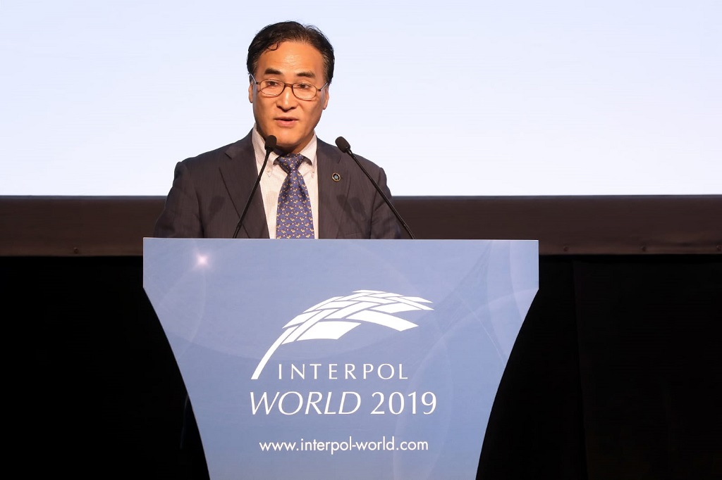 INTERPOL President Kim Jong Yang at INTERPOL World 2019
