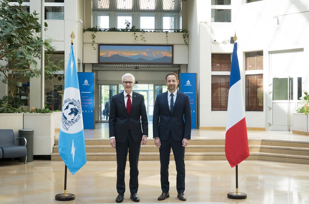 INTERPOL Secretary General Jürgen Stock welcomed Jérôme Bonet, Central Director of the French Judicial Police (DCPJ) and Head of NCB Paris, to the General Secretariat headquarters.