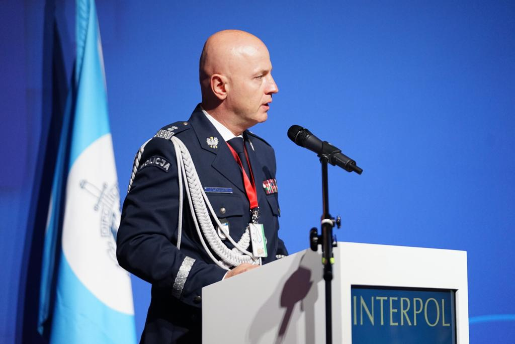 Jarosław Szymczyk, Commander in Chief of the Polish National Police, which is this year hosting the INTERPOL European Regional Conference.