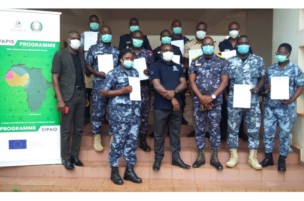 Training on the use of WAPIS for eleven (11) trainers from the Police and the Togo Gendarmerie, October 2020