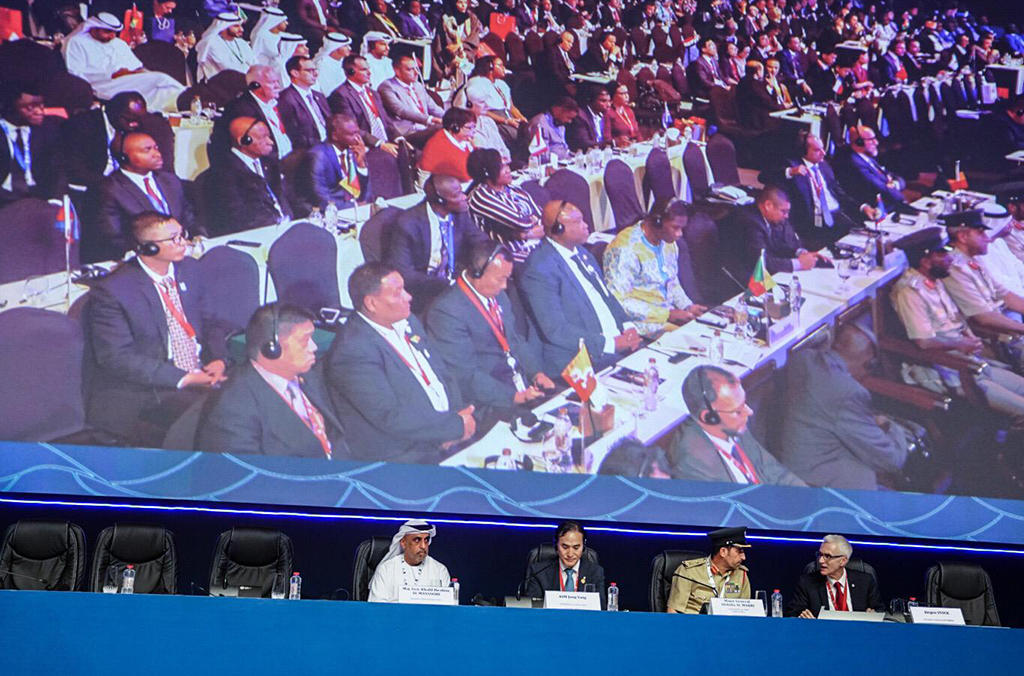 The closing ceremony of INTERPOL's 87th General Assembly in Dubai.