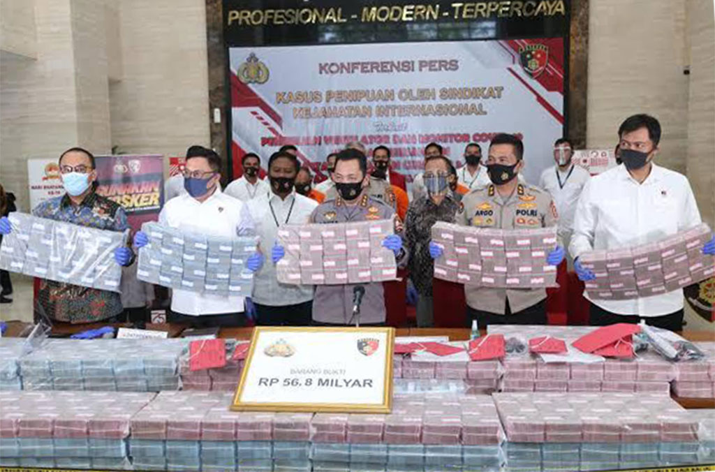 Indonesian authorities arrested three fraud suspects and seized EUR 3.1 million in a case supported by INTERPOL.