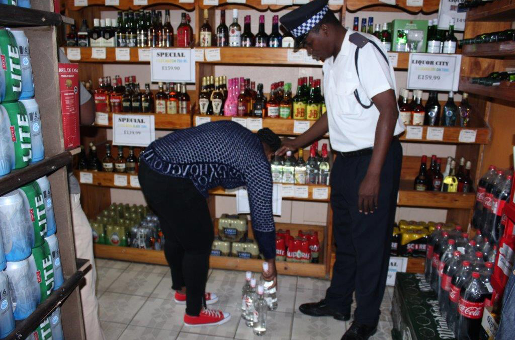 Checks were carried out to identify illicit alcohol in Eswatini.