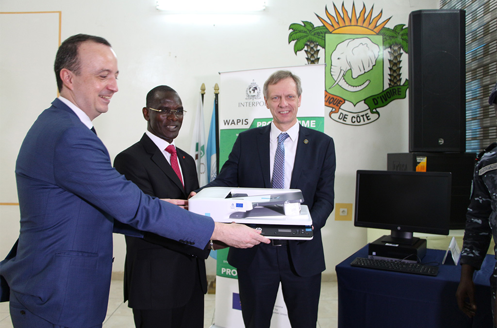 Handover Ceremony of equipment at the Police Academy, 24 February 2020, Abidjan (Côte d'Ivoire)