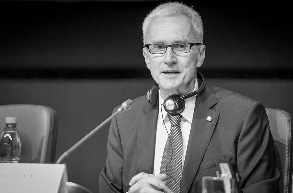 INTERPOL Secretary General Jürgen Stock addresses the 88th INTERPOL General Assembly in Santiago.
