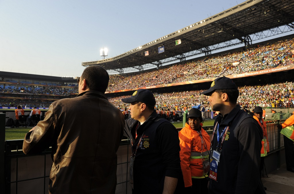 Police in action at the World Cup