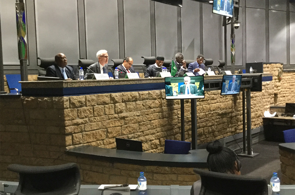Addressing the African Union Peace and Security Council, INTERPOL Secretary General Jürgen Stock outlined the Organization's activities across the region to combat transnational crime and terrorism.