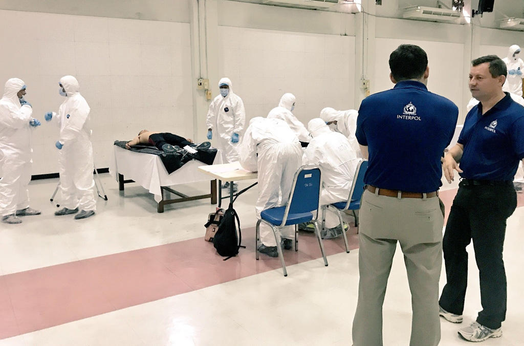 A disaster victim identification (DVI) training course was conducted in Thailand in August and September 2017.