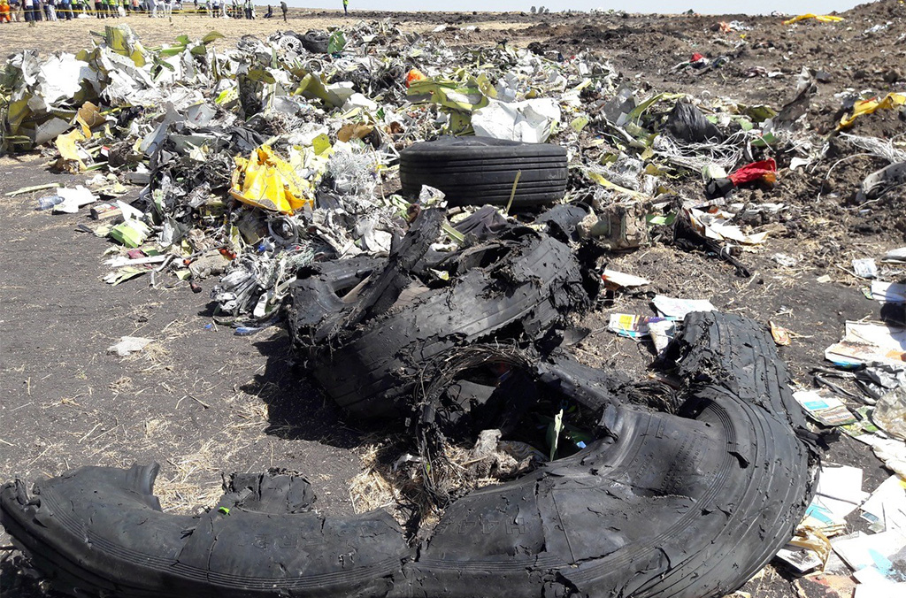 Ethiopian Airlines flight ET302 from Addis Ababa bound for Nairobi crashed near the Ethiopian town of Bishoftu.