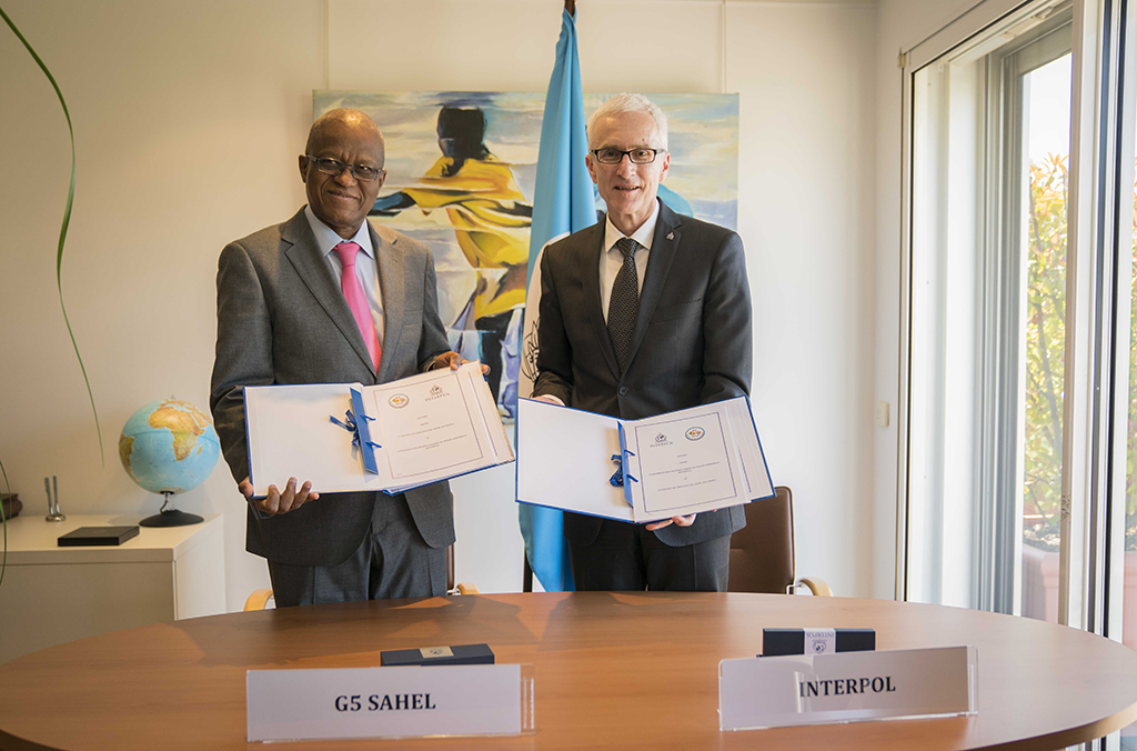 The heads of INTERPOL and the G5 Sahel signed an agreement which will see increased information sharing to better address current and emerging terrorist threats across the region.