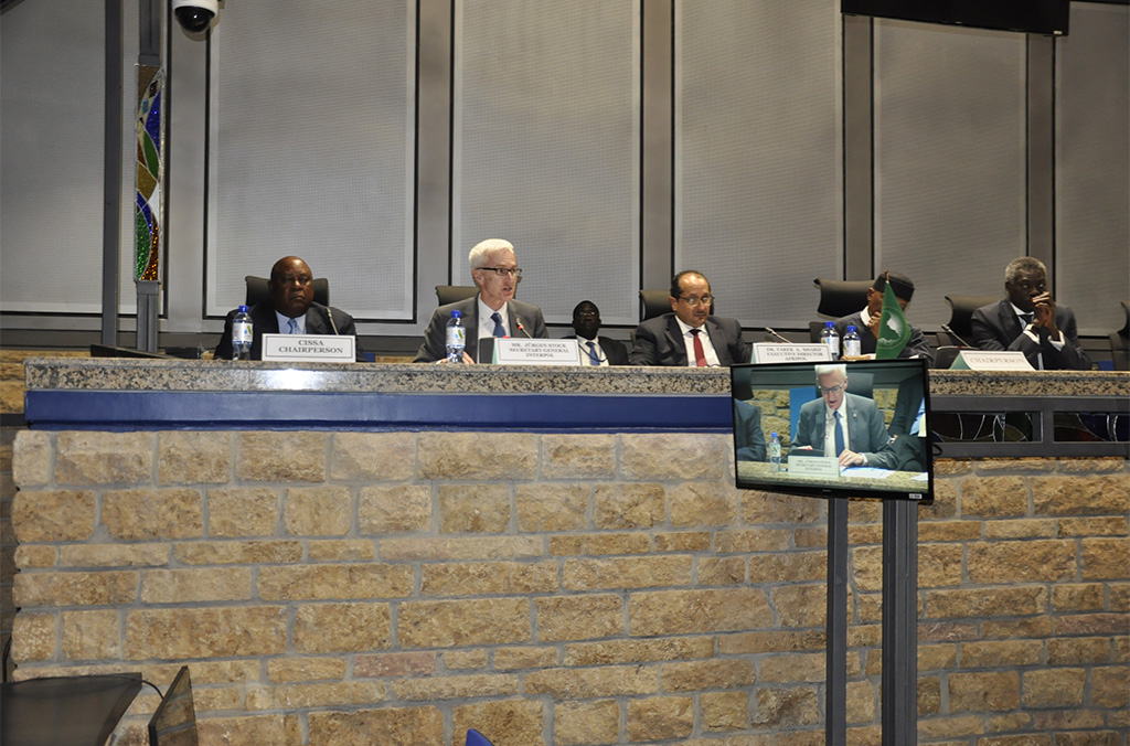 INTERPOL Chief Jürgen Stock said INTERPOL provided both analysis and operational support to assist law enforcement across Africa disrupt the criminal networks behind transnational organized crimes.