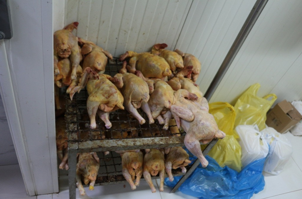 INTERPOL Operation Opson - Meat kept in substandard conditions was discovered in Albania.