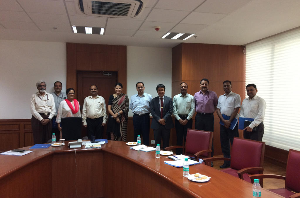 Project Team with the Director of the Central Bureau of Investigation in New Delhi
