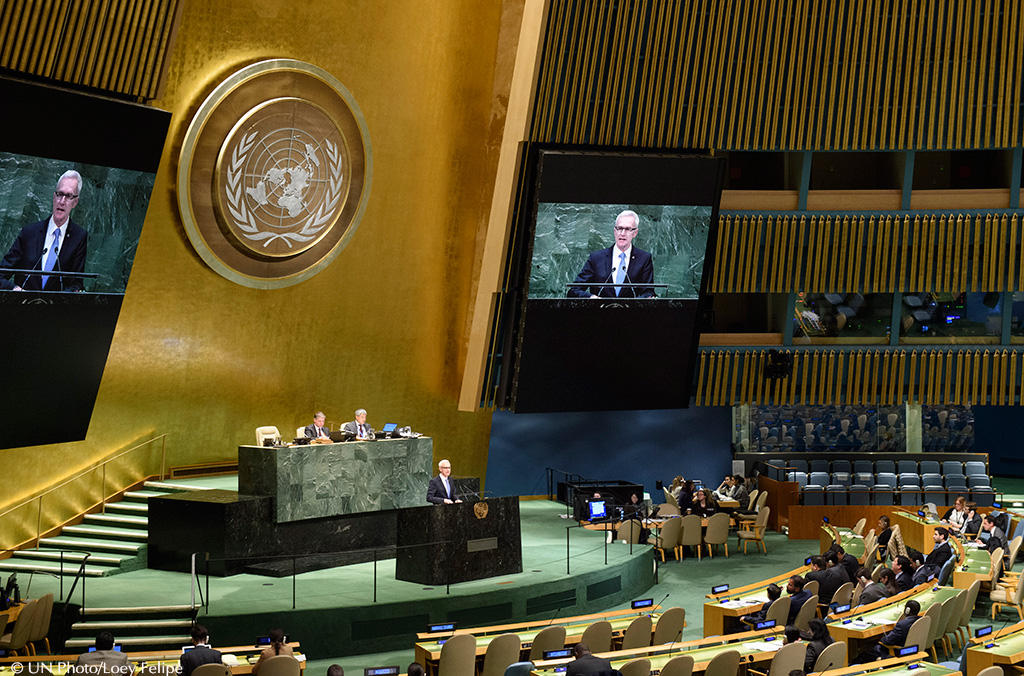 Secretary General Jürgen Stock addressed the UN General Assembly which has endorsed increased cooperation with INTERPOL in countering terrorism and transnational organized crime.