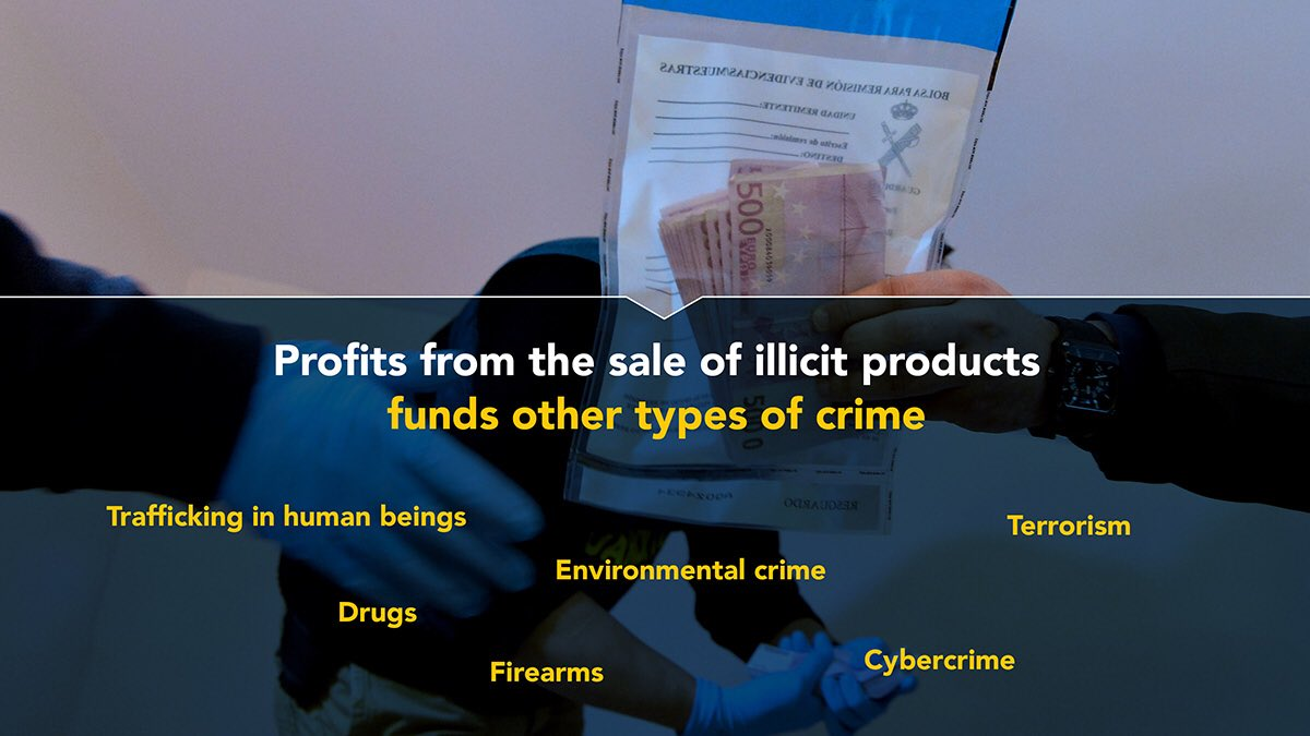 Profits from the sale of illicit products
