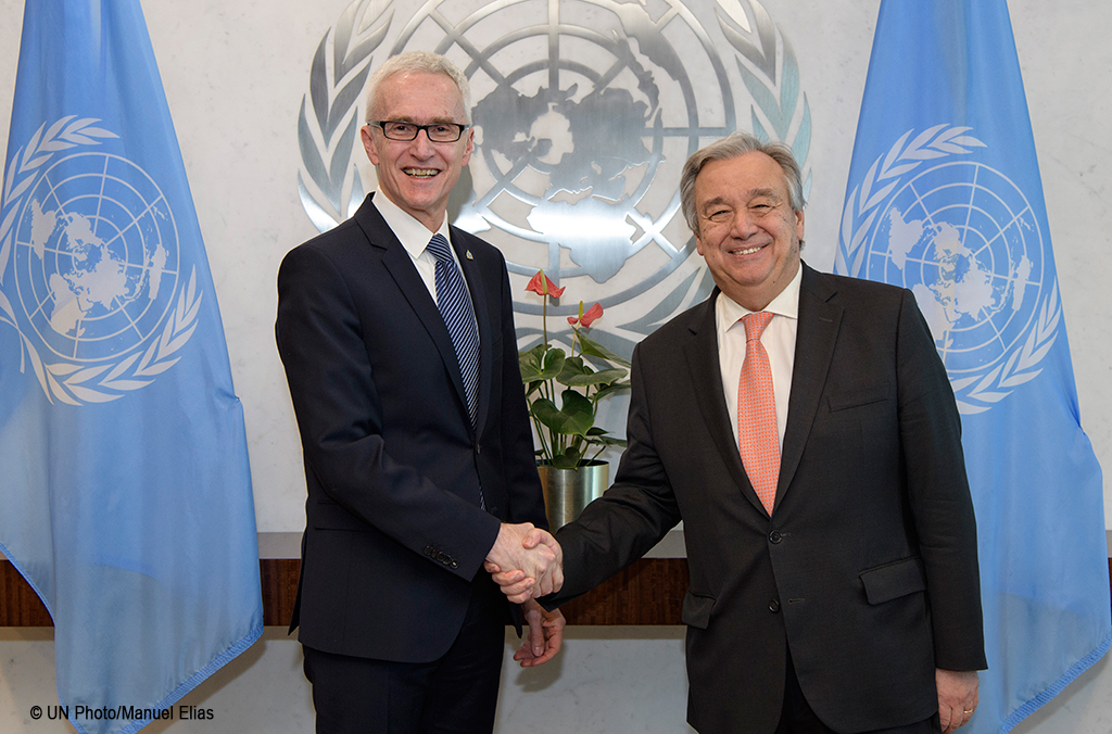 UN Secretary General António Guterres INTERPOL Secretary General