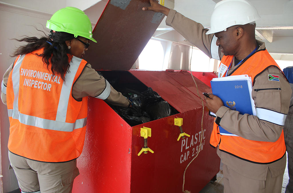 On-board recycling inspections during the South African leg of Operation 30 Days at Sea