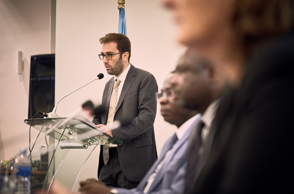 Charles Girard, the Cooperation Attaché of Peace and Security Programmes of the EU Delegation to Côte d'Ivoire, stressed the importance of Project ENACT in helping countries in Africa fight transnational organized crime.